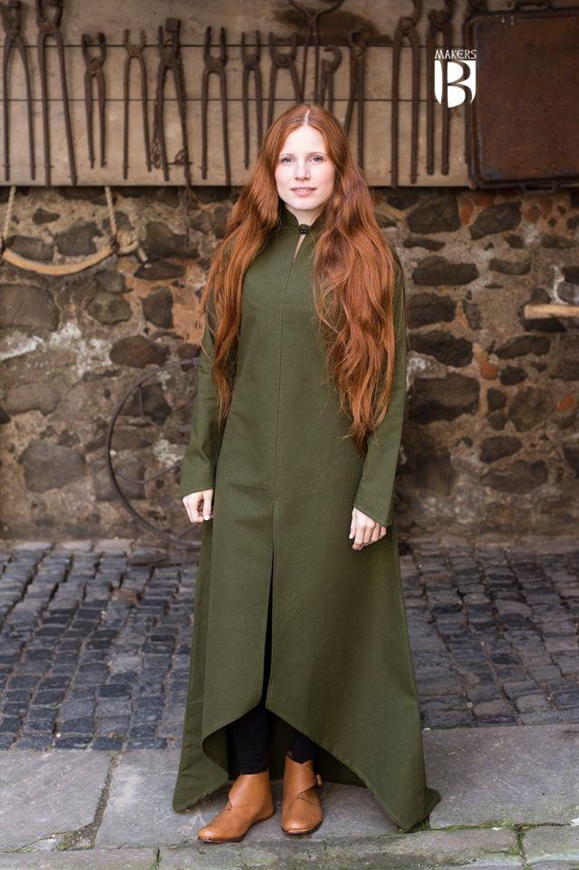 Longue robe Ranwen, vert olive