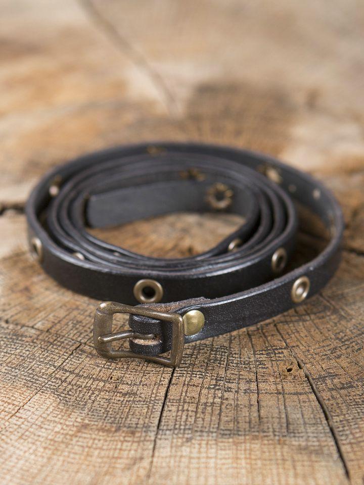 Bracelet ceinture en cuir noir