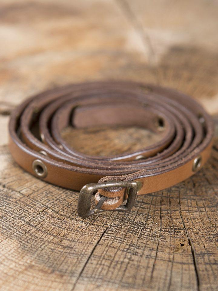 Bracelet ceinture en cuir marron