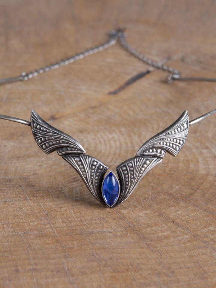 Diadème avec pierre bleue