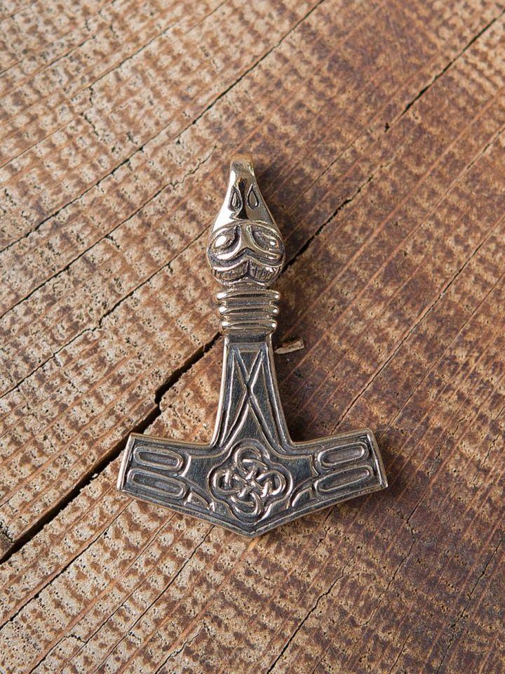 Pendentif Thor tête d'aigle bronze