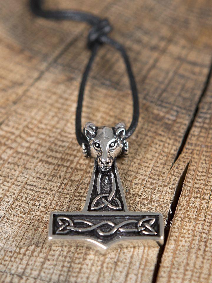 Pendentif en forme de marteau Thor et tête de bélier