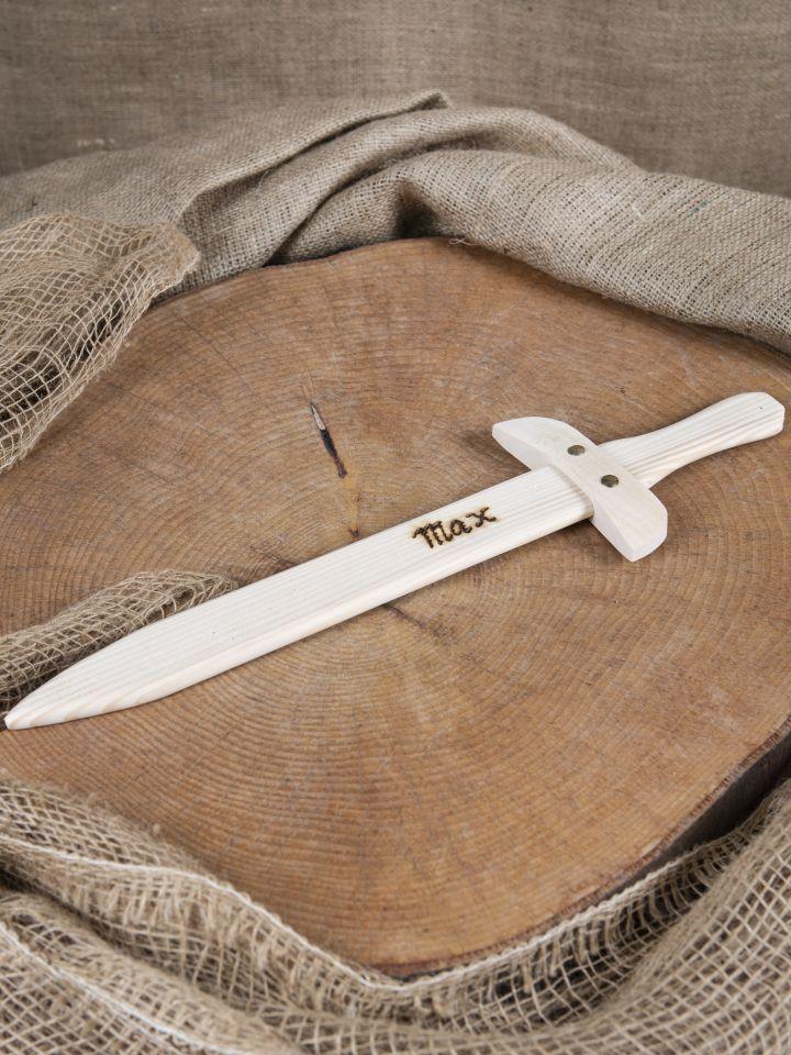 Petite épée en bois avec gravure personnalisable