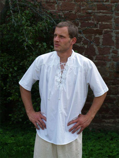 Chemise médiévale à manches courtes XL