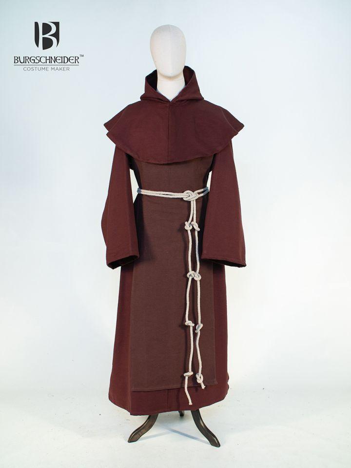 Habit de moine bénédictin en marron