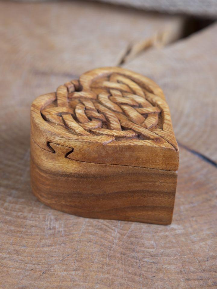 Boîte à bijoux en forme de coeur