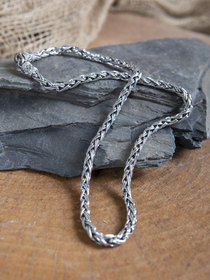 Collier viking tressé 55 cm