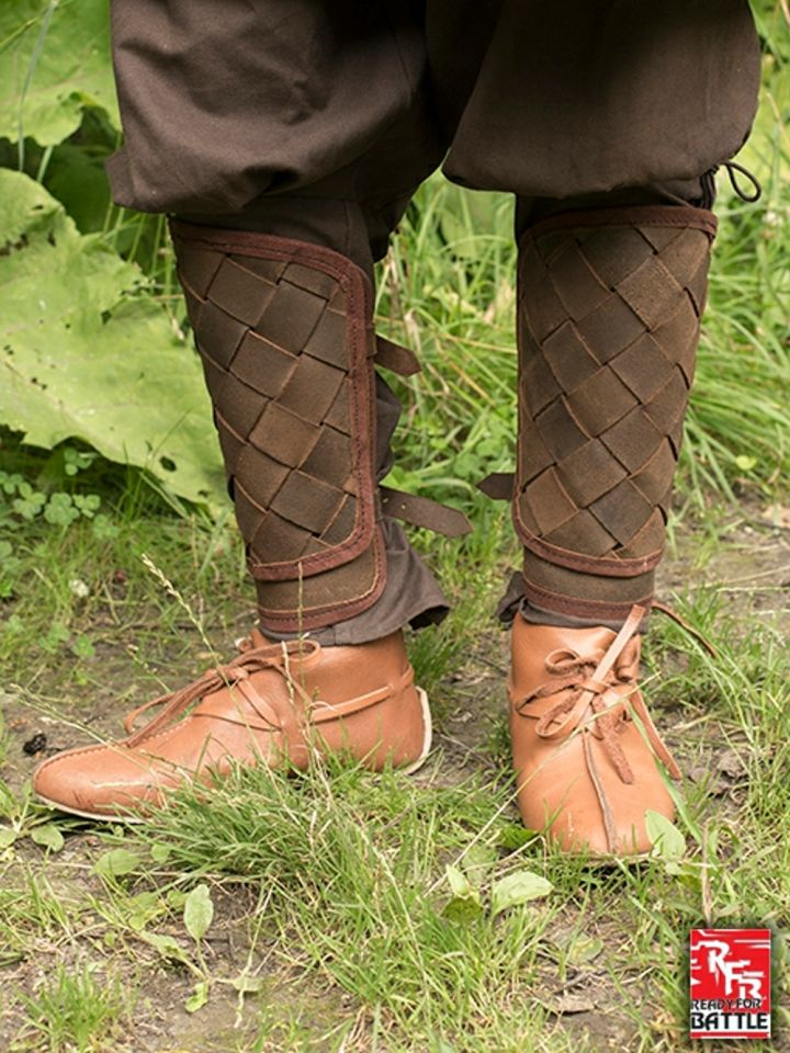 Jambières Viking en cuir, marron