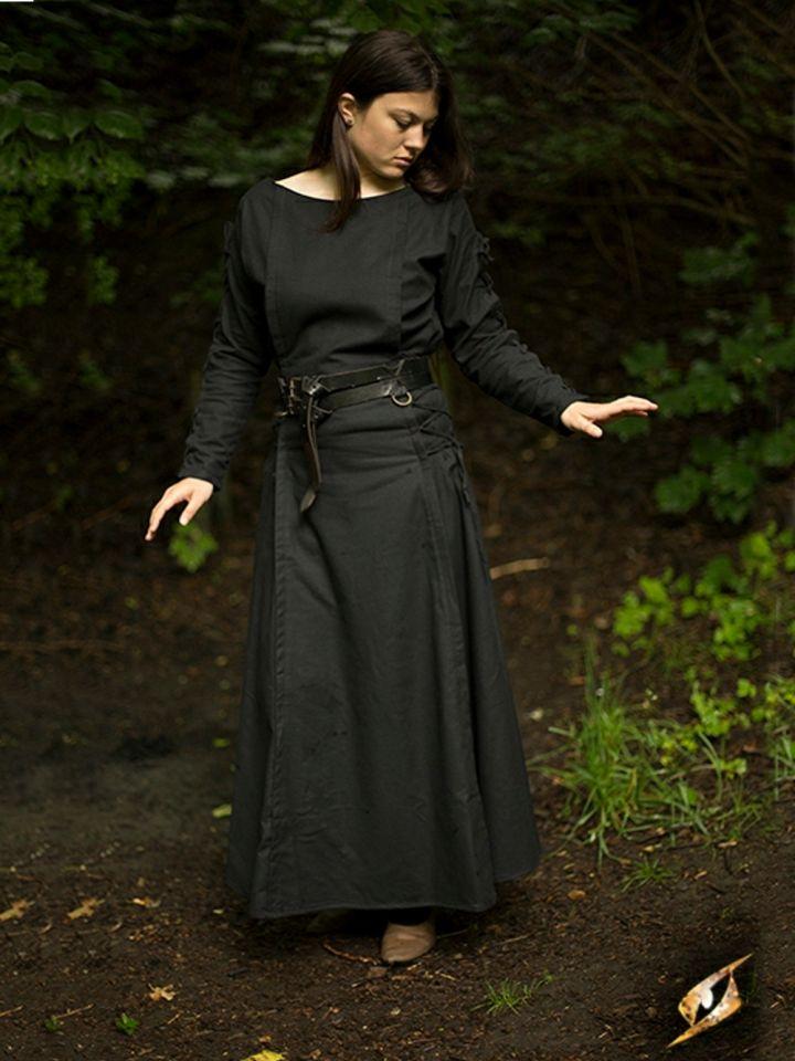 Robe à laçage en noir