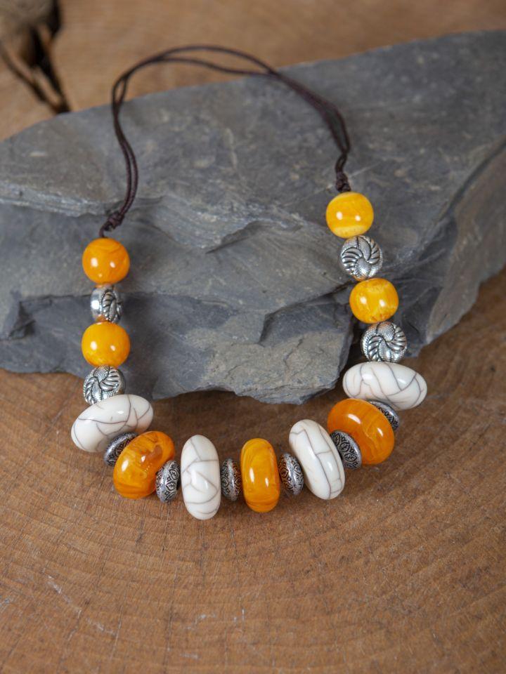 Collier médiéval grosses perles