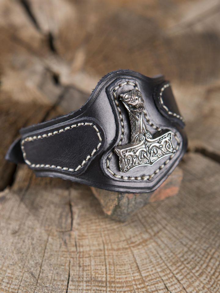 Bracelet en cuir Marteau de Thor Viking