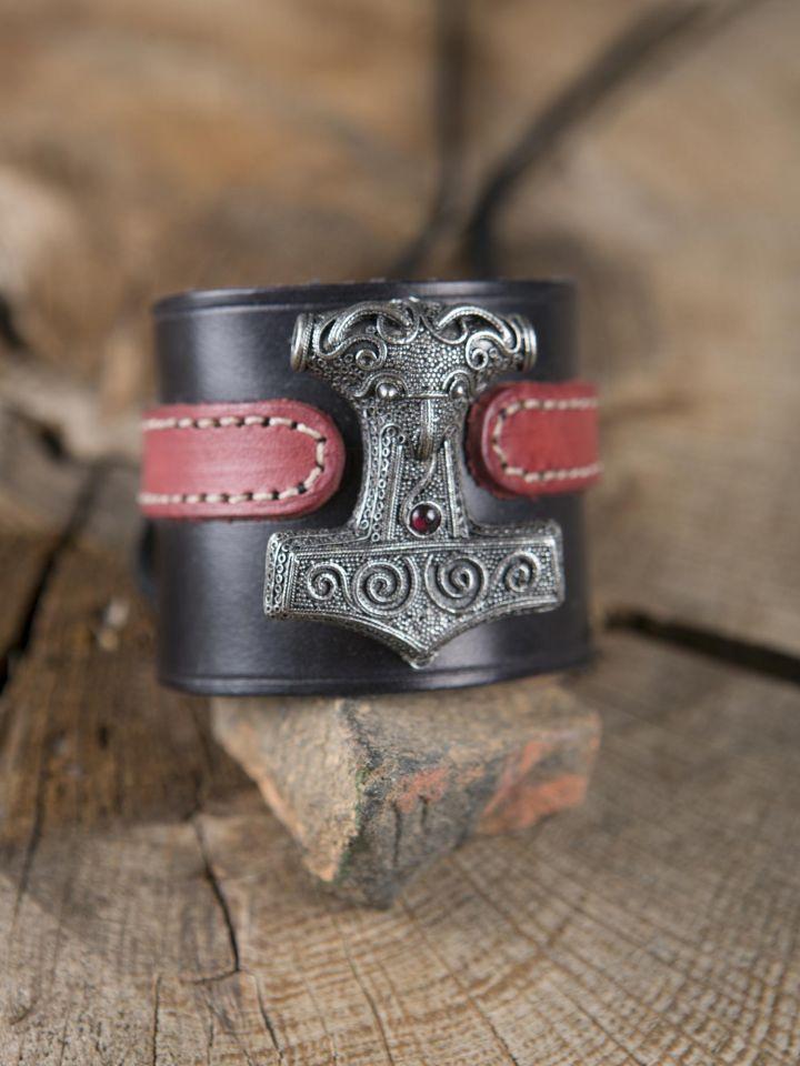 Bracelet en cuir Marteau de Thor