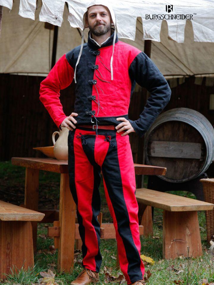 """Pantalon Lansquenet """"Imperialis"""" rouge et noir"""