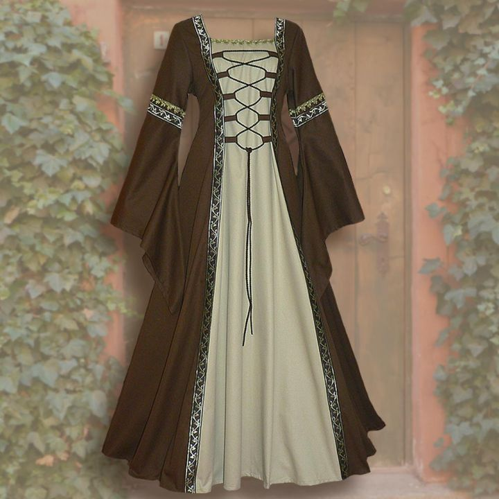 Robe Iris marron-sable