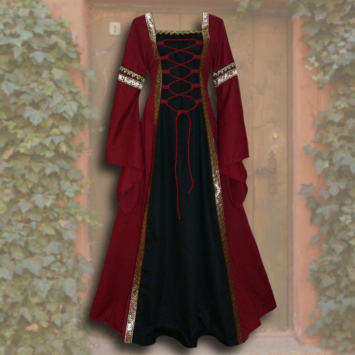 Robe Iris rouge-noire