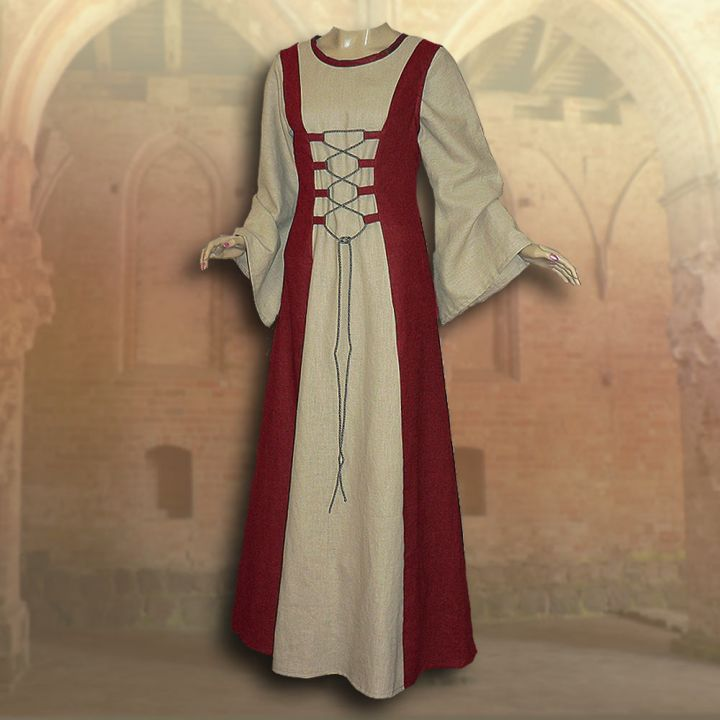 Ensemble médiéval Isabella en rouge