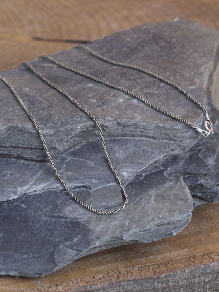Chaîne fine en argent, 55 cm