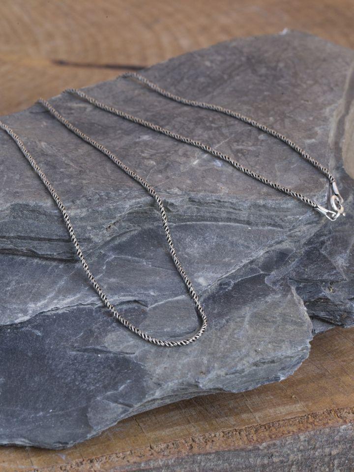 Collier mailles fines en argent 45 cm