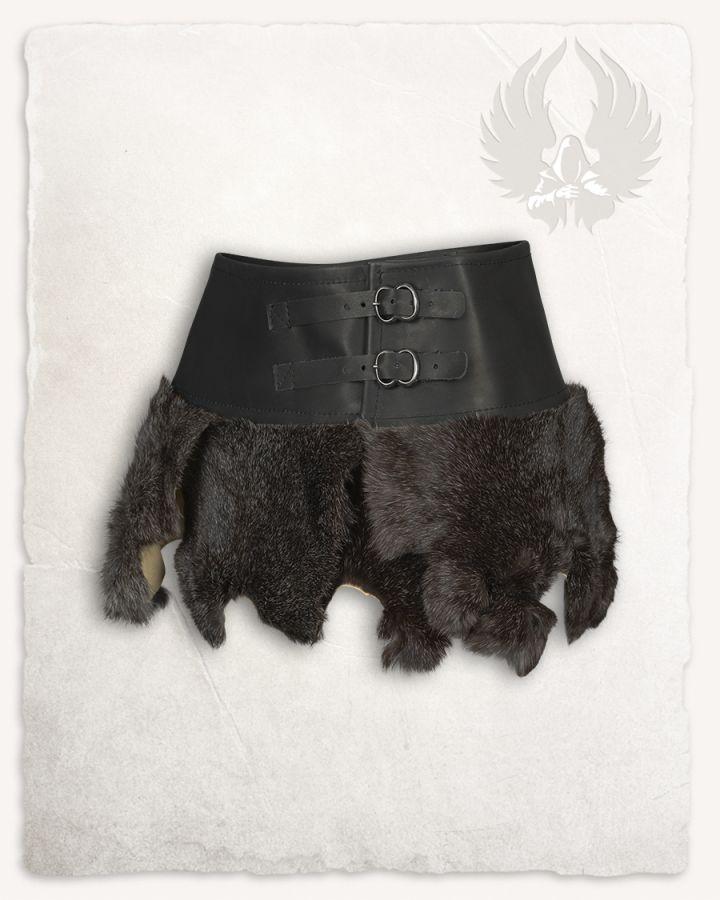 Jupe en fourrure Karya noire