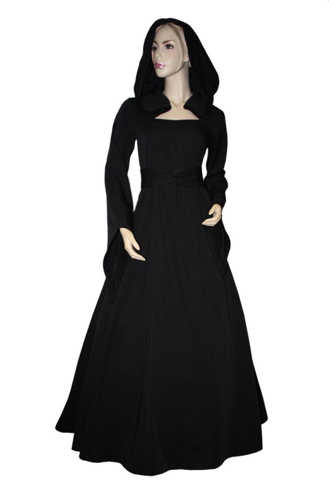 Robe Médiévale Julia en noir