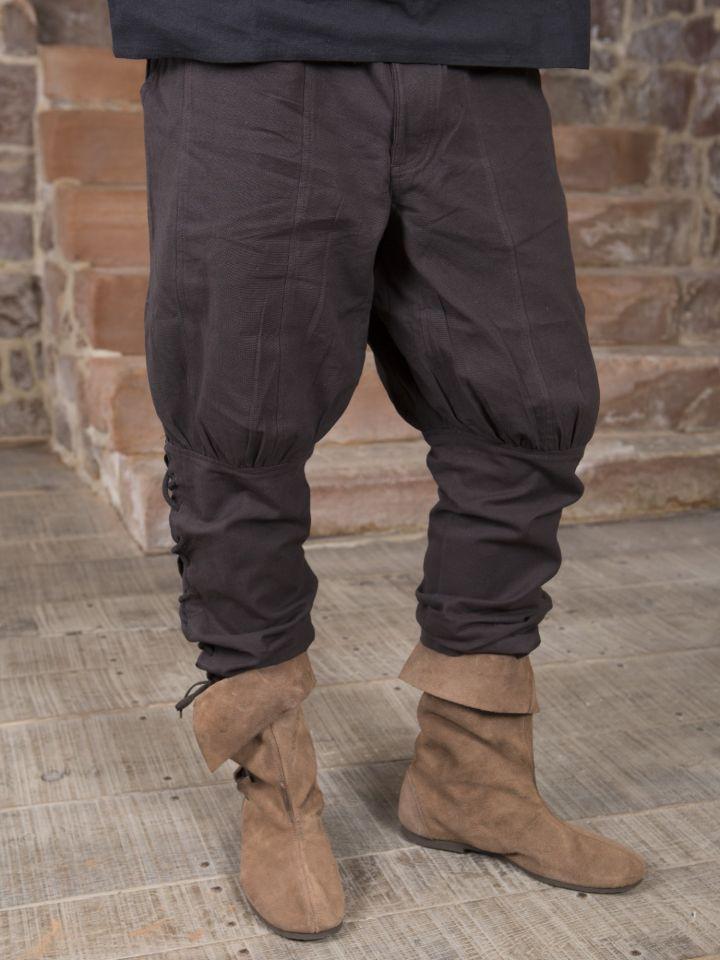 Pantalon en coton en marron