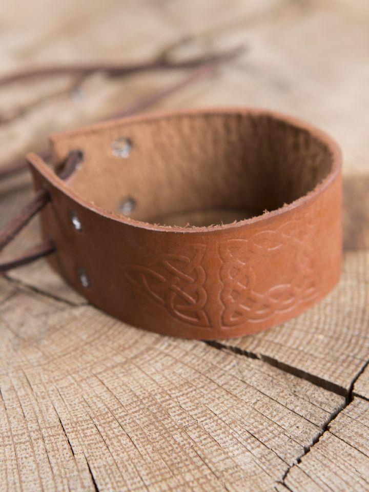 Bracelet motifs Celtiques, en marron