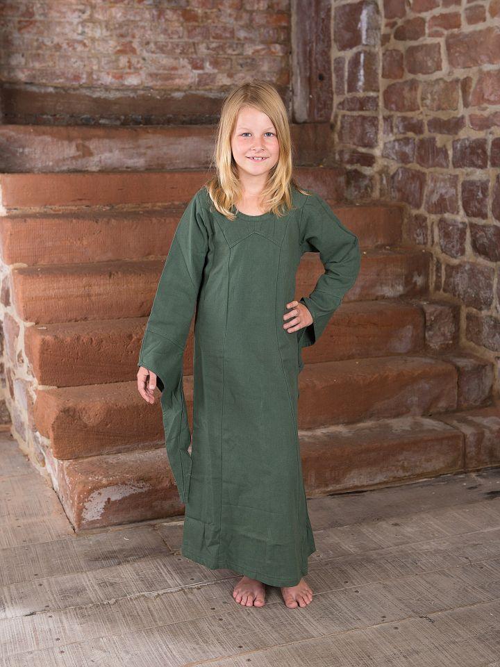 Robe médiévale en coton pour enfant