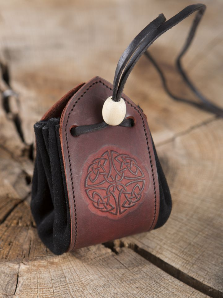 "Sac en cuir, motif ""noeud celtique III"""