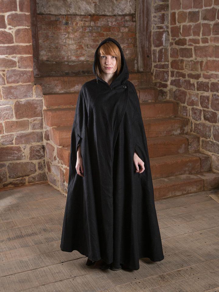 Manteau en laine Allan, en noir