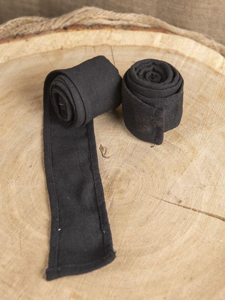 Bandes à enrouler en tissu épais noir (250 cm)