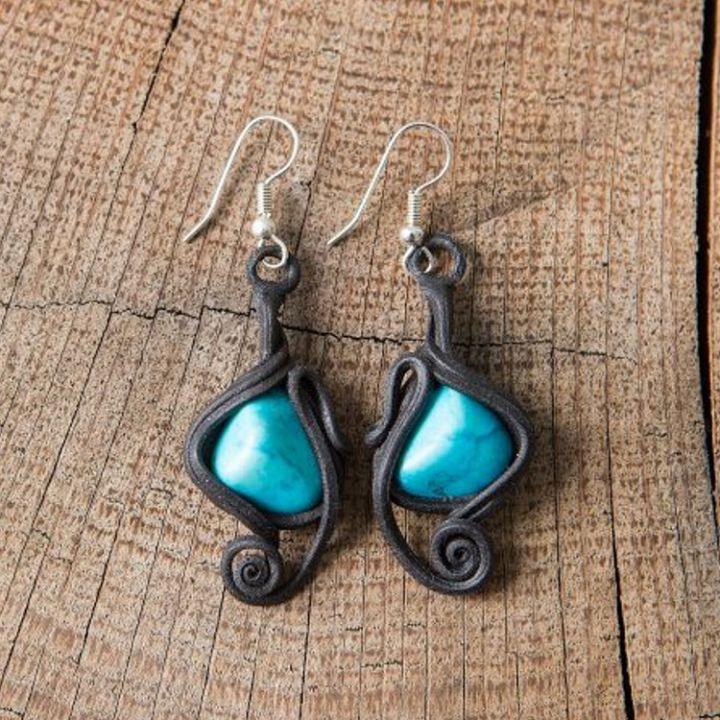 boucles d 39 oreilles turquoise la boutique m di vale. Black Bedroom Furniture Sets. Home Design Ideas