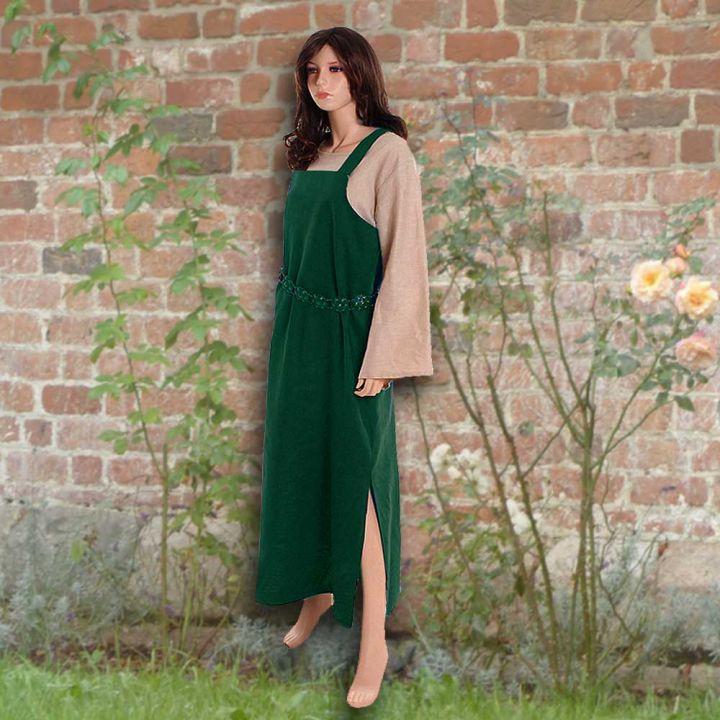 Ensemble robe médiévale verte et blouse Othilie