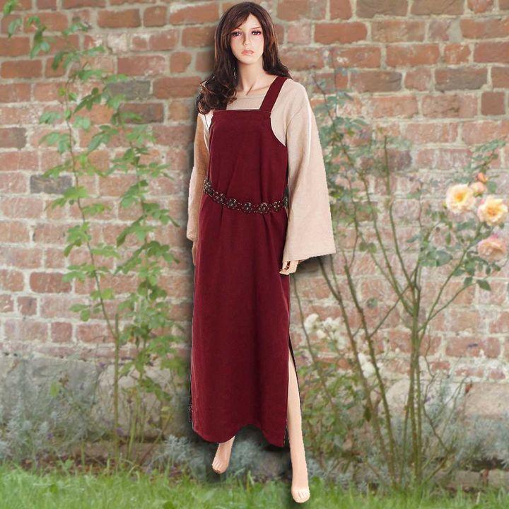 Ensemble robe médiévale rouge et blouse Othilie