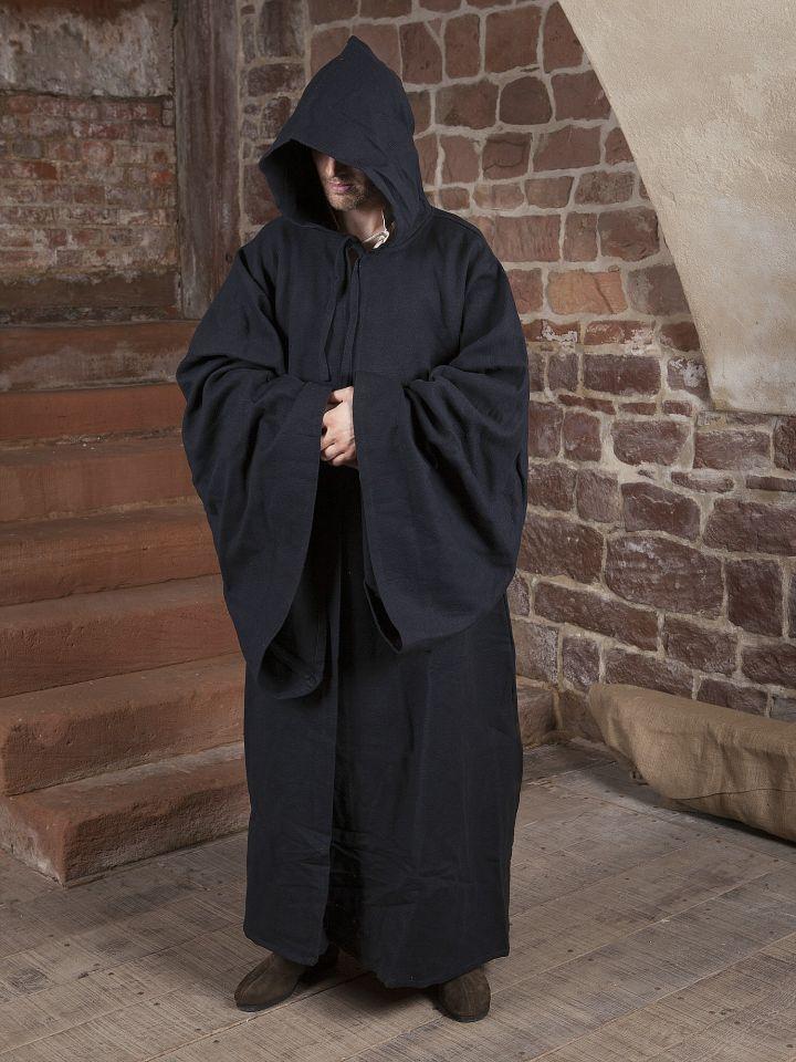 Manteau de magicien en coton en noir