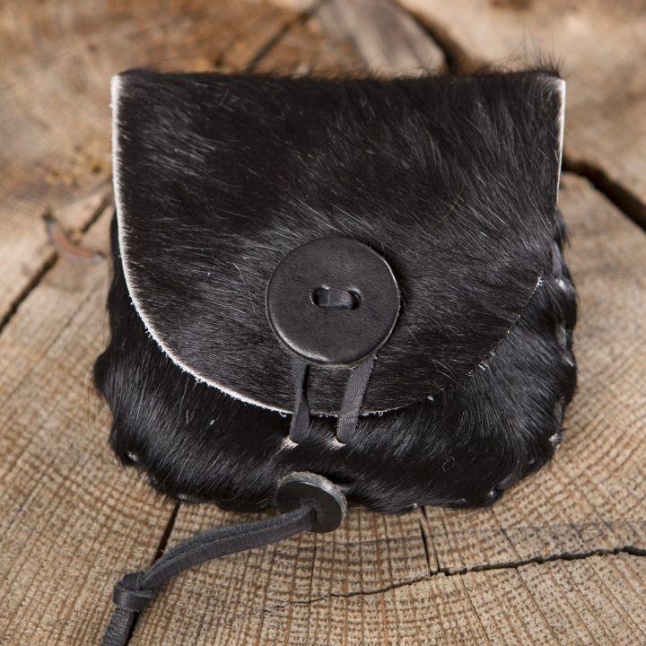 petit sac en peau de vache noir la boutique m di vale. Black Bedroom Furniture Sets. Home Design Ideas