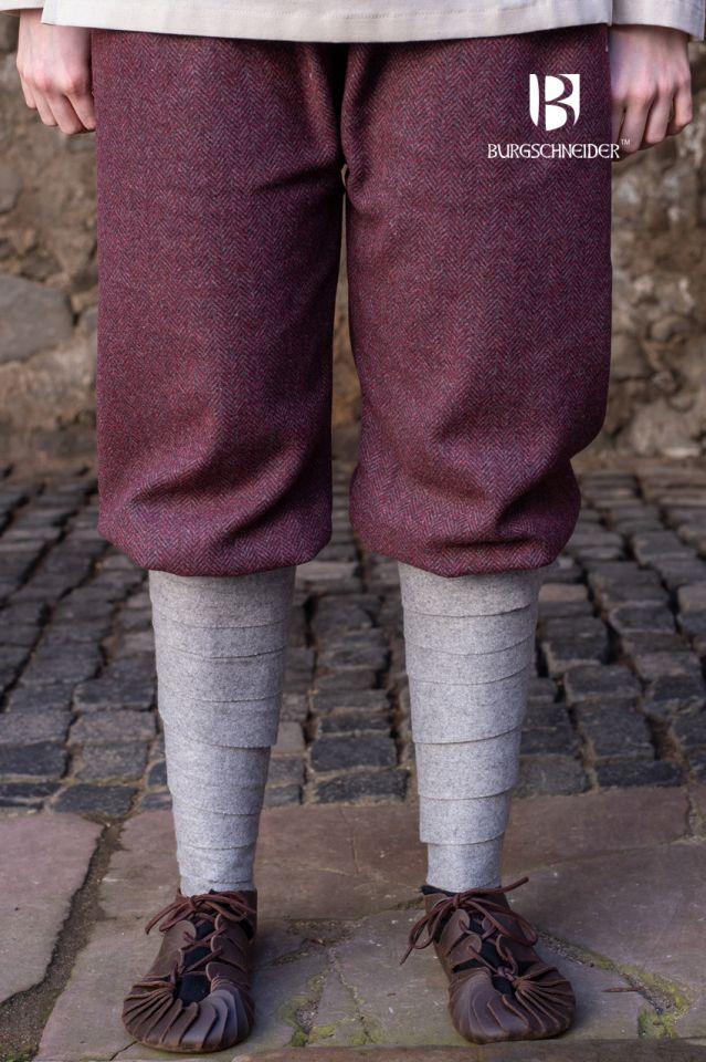 Pantalon féminin Tilda chiné bordeaux et gris