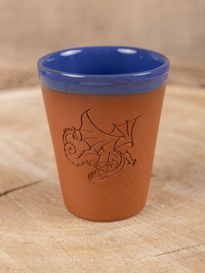 Tasse en argile Dreki bleue