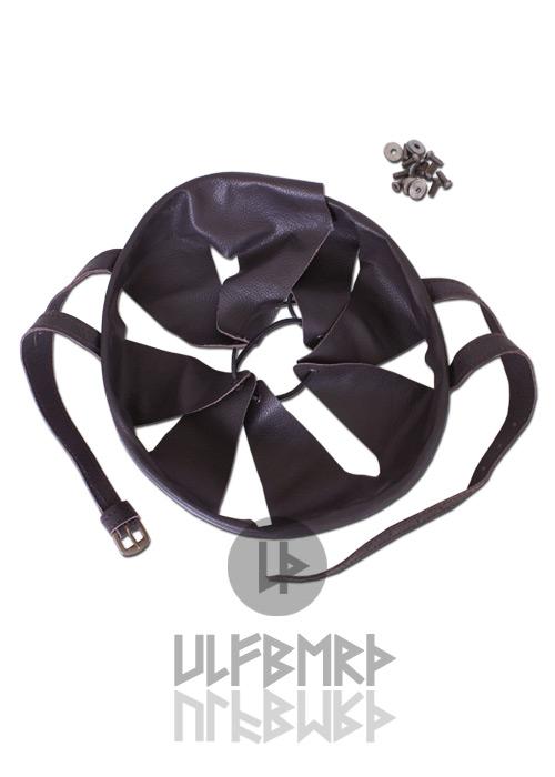 Habillage intérieur de casque, en cuir