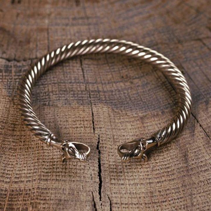 Bracelet Viking à Tête de loup