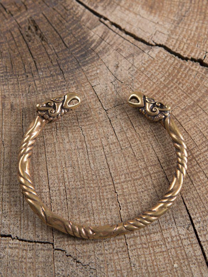 Bracelet en bronze à têtes de corbeaux