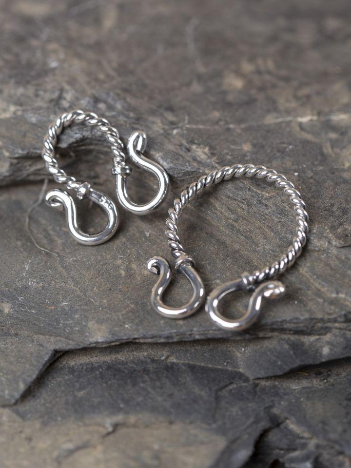 Crochet de chaîne en argent petit modèle