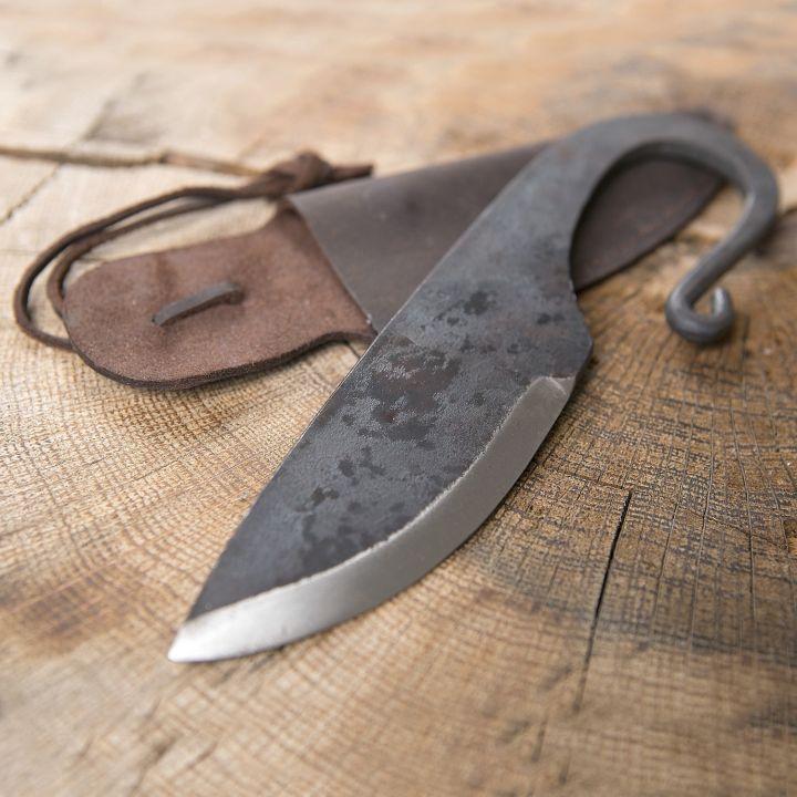 Couteau Viking et fourreau en cuir