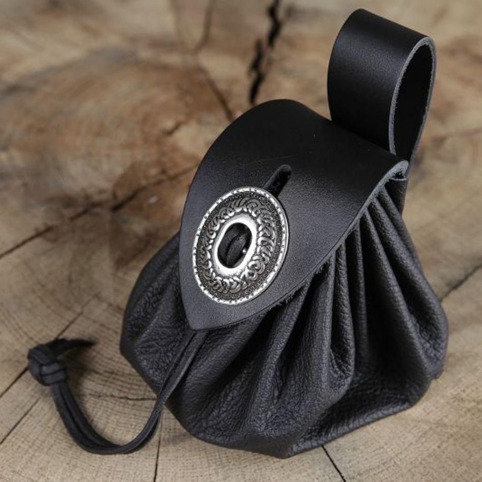 bourse de ceinture en cuir noir la boutique m di vale. Black Bedroom Furniture Sets. Home Design Ideas