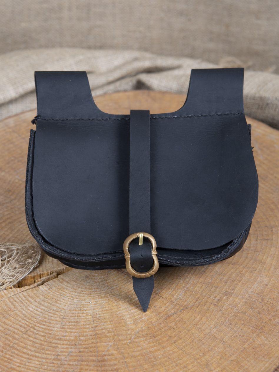 d2ad78fd6eb7 Sacoche de ceinture en noir   La boutique médiévale