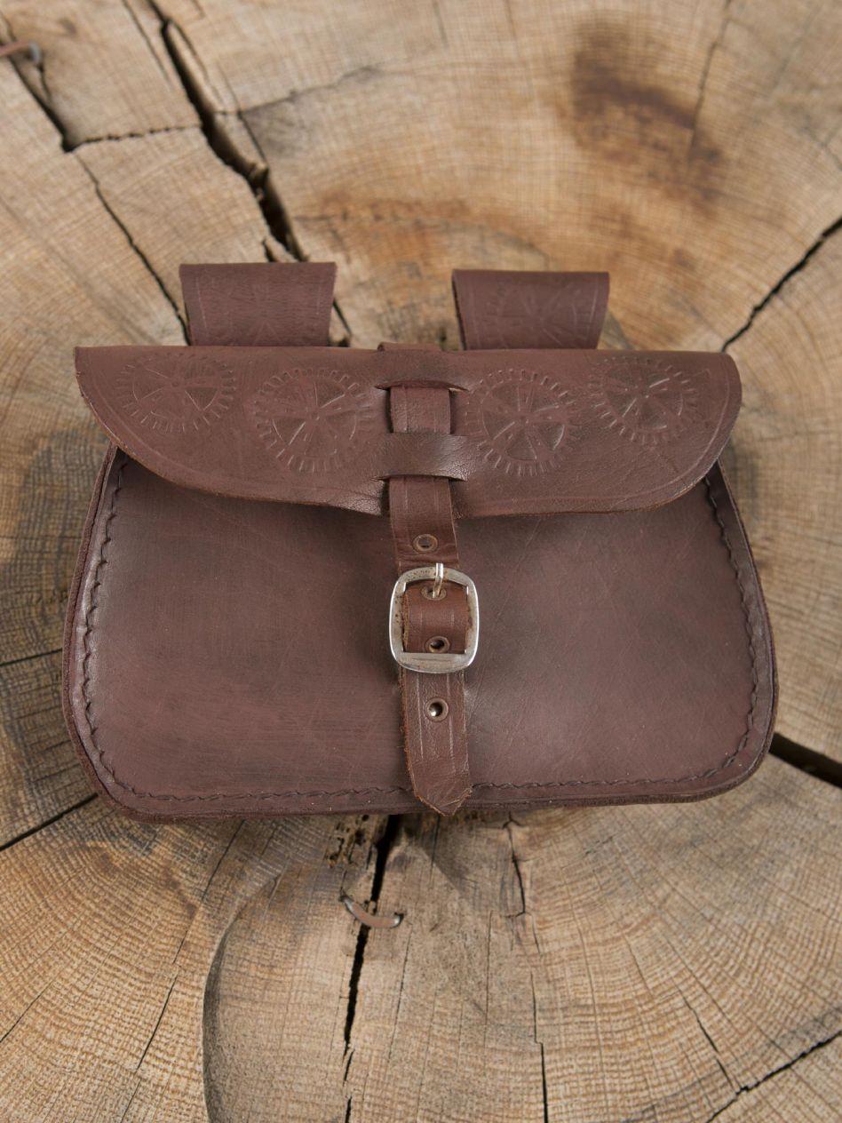 27d71eb96951 Sacoche de ceinture en cuir, marron   La boutique médiévale