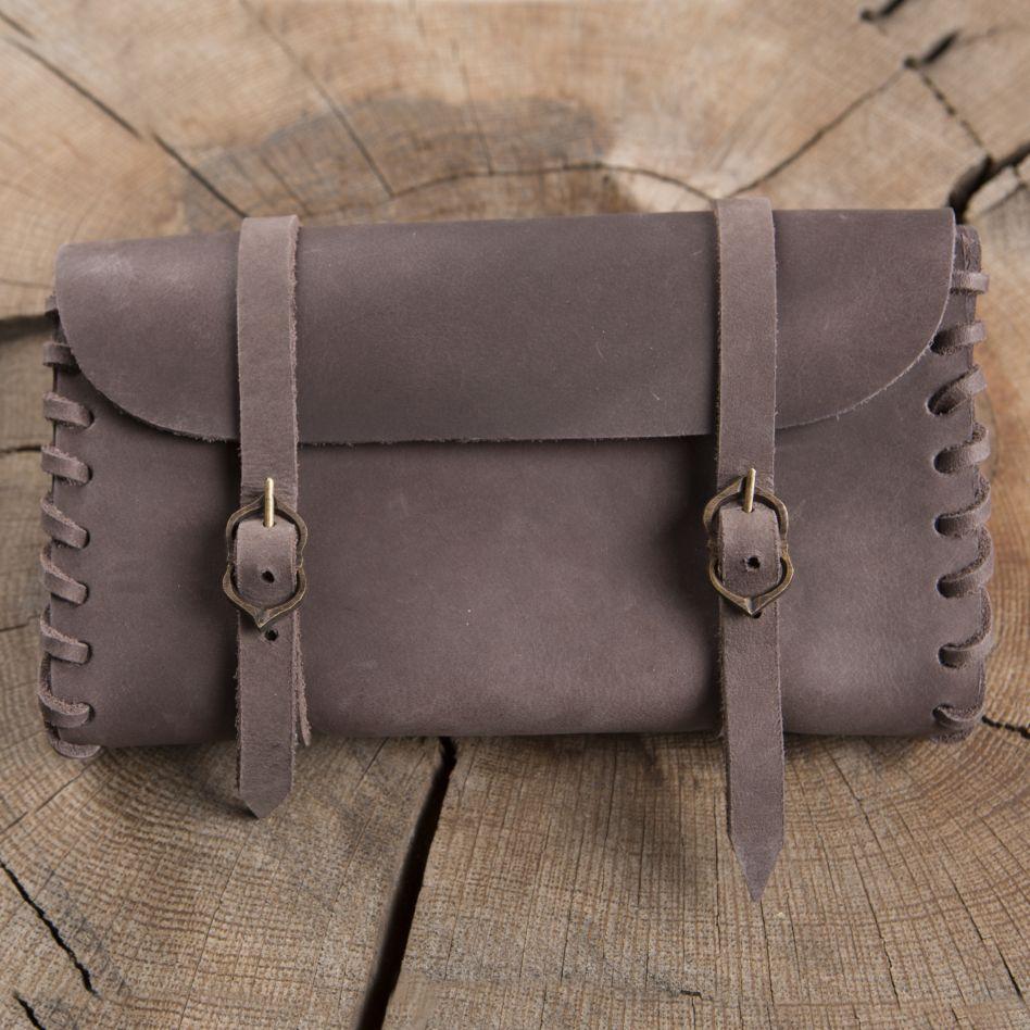 b4e512e6a3ed Besace de ceinture en cuir marron   La boutique médiévale