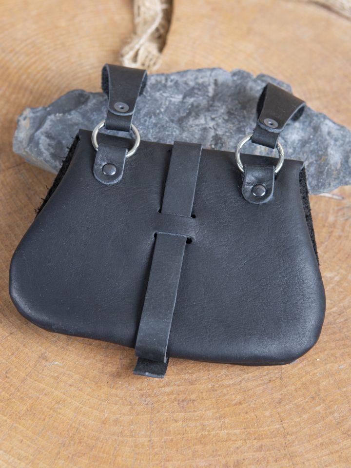 Sacoche de ceinture médiévale, en noir 2