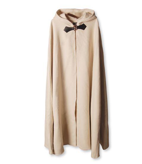 Cape en laine à capuche blanc-écru 131 cm 2