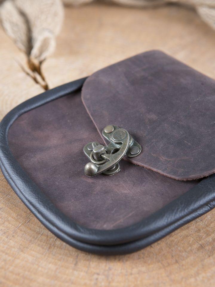 Pochette de ceinture fermoir à crochet, en marron 2