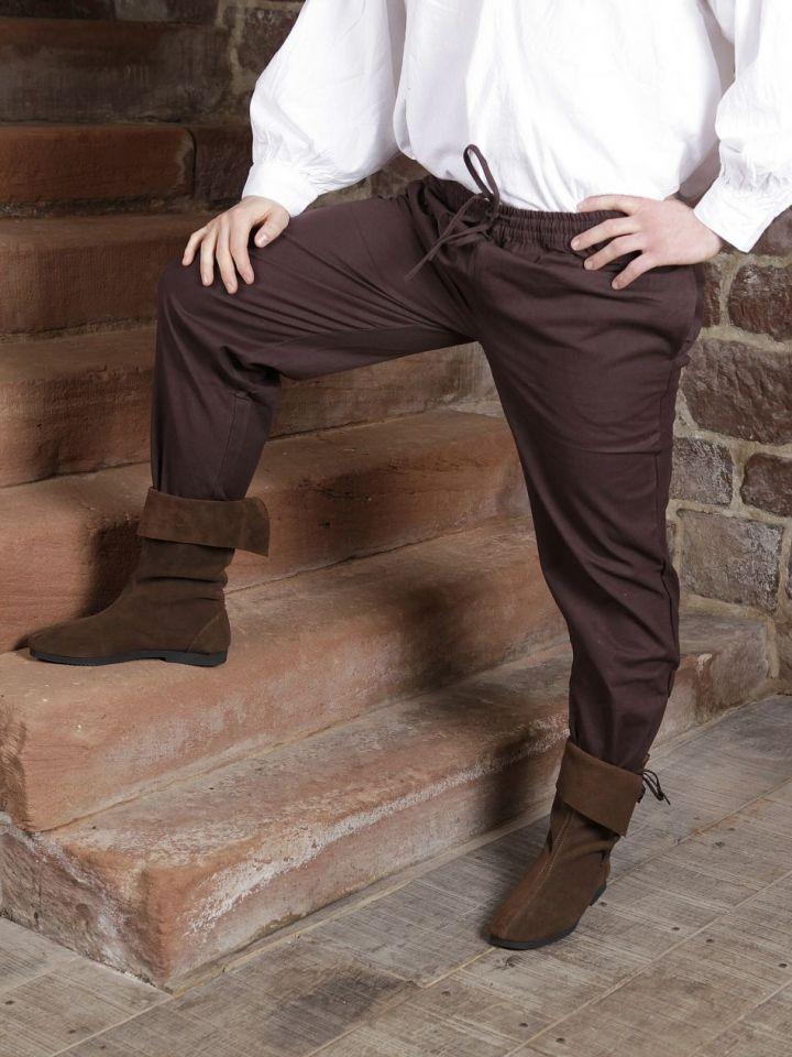 Pantalon médiéval brun foncé S 2